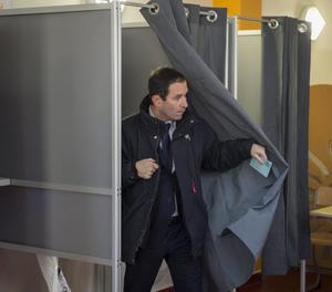 Benoît Hamon, després de votar.