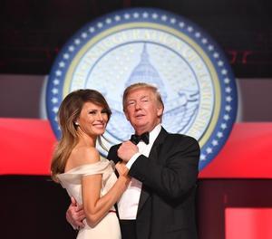 El president dels Estats Units, Donald J. Trump, i la primera dama, Melania Trump.