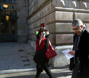 L'exconseller de Presidència Francesc Homs arriba a la seu del Tribunal Superior de Justícia de Catalunya.