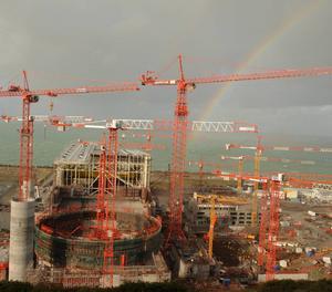 La central nuclear de  Flamanville.