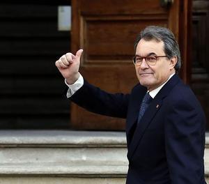 Artur Mas a la sortida del judici.