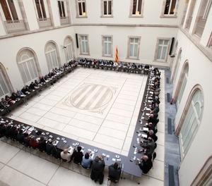 La reunió del Pacte Nacional pel Referèndum el passat 1 de febrer.