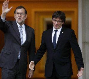 Rajoy i Puigdemont es van veure a Moncloa al gener