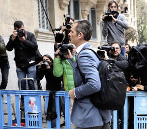 Iñaki Urdangarin arriba aquest dijous a l'Audiència de Palma.