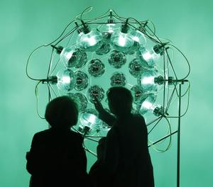 L'obra 'Global cooling lamp' d'Olafur Eliasson, a ARCO.