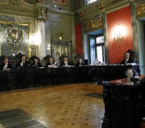 Una vista del judici contra Homs al Suprem.
