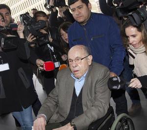 Fèlix Millet aquest dimecres en arribar a la Ciutat de la Justícia de Barcelona.