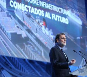 Mariano Rajoy durant la seua intervenció aquest dimarts a Barcelona