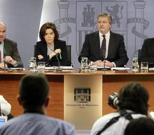La roda de premsa posterior al Consell de Ministres