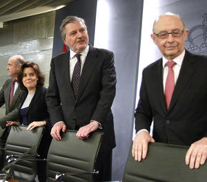 La roda de premsa posterior al Consell de Ministres.