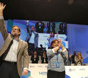 Rajoy i la presidenta del PP a València, Isabel Bonig.