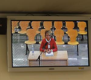 Esperanza Aguirre declara en el judici de Gürtel com a testimoni.
