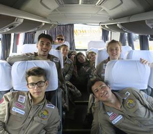 Llegada a Lima el pasado 13 de marzo de los ocho jóvenes españoles que integraron