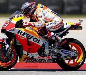 Marc Márquez, amb la seua Honda.