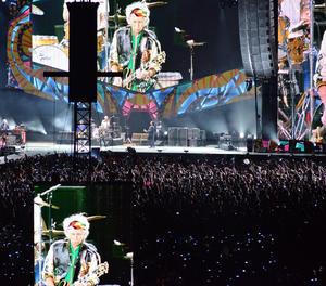 The Rolling Stones durant el seu concert a L'Havana.