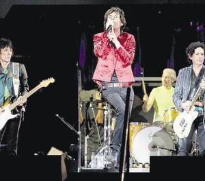 Els Rolling Stones, el 21 de juny del 2007, a l'Estadi Olímpic, en el seu anterior concert a Barcelona.