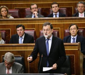 Rajoy, durant la sessió de control al Congrés.