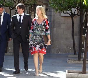 Santi Vila, Carles Puigdemon i Neus Munté.
