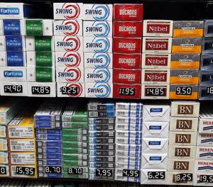 Diverses marques de tabac