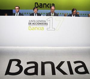 Imatge d'arxiu d'una junta d'accionistes de Bankia.