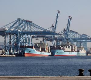 Una terminal de Maersk.