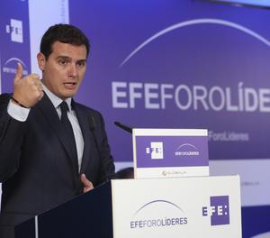 Albert Rivera en la seua intervenció a EFEForoLíderes.