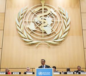 El director general de l'OMS, Tedros Adhanom Ghebreyesus a Ginebra.