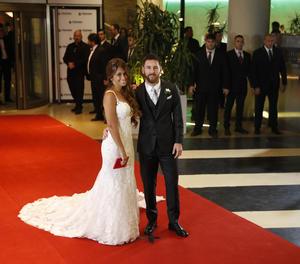 Lionel Messi i la seia dona