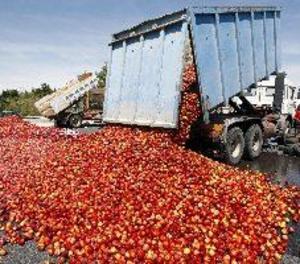 Protesta d'agricultors a Perpinyà per la competència de la fruita espanyola