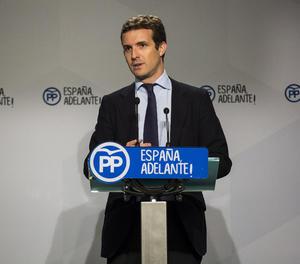 El vicesecretari general de Comunicació del Partit Popular, Pablo Casado.