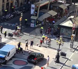 Atropellament massiu a Barcelona