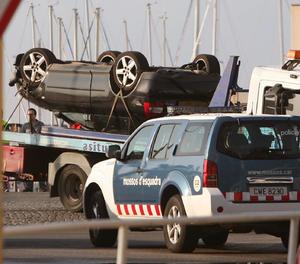 El cotxe utilitzat pels terroristes a Cambrils