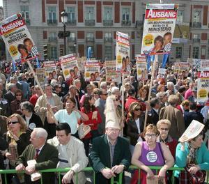 Imatge d'arxiu d'una protesta d'afectats per la presumpta estafa d'Afinsa i Fórum Filatélico.