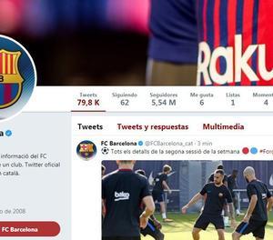 El compte de Twitter del FC Barcelona.