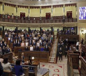 El minut de silenci al Congrés dels Diputats.