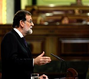 Mariano Rajoy durant la seua intervenció al Congrés