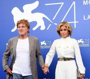 Robert Redford i Jane Fonda van desembarcar ahir a la Mostra.
