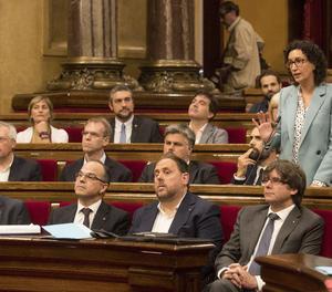 Un moment del ple del Parlament