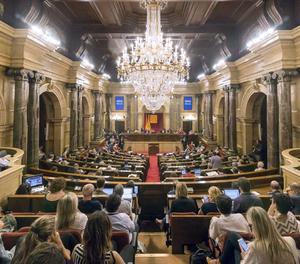 Una vista del ple del Parlament.