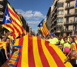 Penya Som un Sentiment a la manifestació de Barcelona