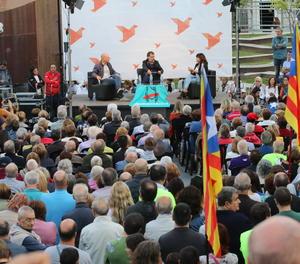 L'acte a favor del 'sí' al referèndum diumenge a la plaça Ricard Viñes de Lleida.
