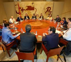 La reunió del Consell Executiu d'aquest divendres.