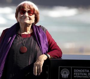 La directora Agnès Varda, ahir al Festival de Sant Sebastià.