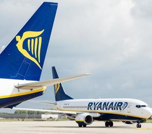 Imatge d'arxiu d'avions de la companyia Ryanair.