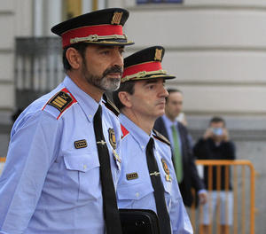 El cap dels Mossos d'Esquadra, Josep Lluís Trapero, a la seua arribada a l'Audiència Nacional.