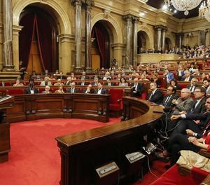 Una vista del ple del Parlament aquest dimarts.