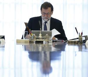 El president del Govern, Mariano Rajoy, durant la reunió del consell de Ministres.
