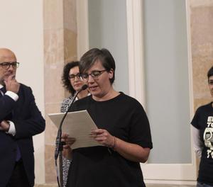 La presidenta del grup de la CUP al Parlament, Mireia Boya.