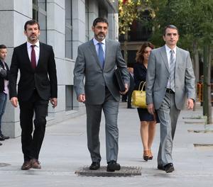Josep Lluís Trapero arriba a l'Audiència Nacional aquest dilluns al matí.