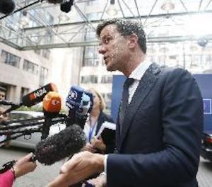 El primer ministre holandès dóna suport a Rajoy ja que